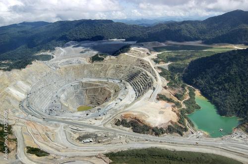 Fotobehang Heuvel Open-pit copper mine