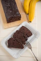 Schokoladen Bananenbrot
