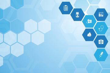 Medical  blue background