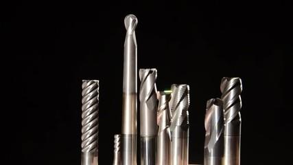 milling bits detail close up