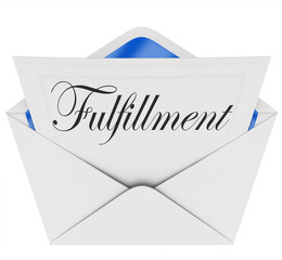 Fulfillment Word Envelope Invitation Satisfaction Gratifying Mes