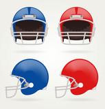 Fototapety Vector American football. Set Football Helmets