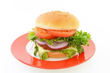 美味しそうなハンバーガー