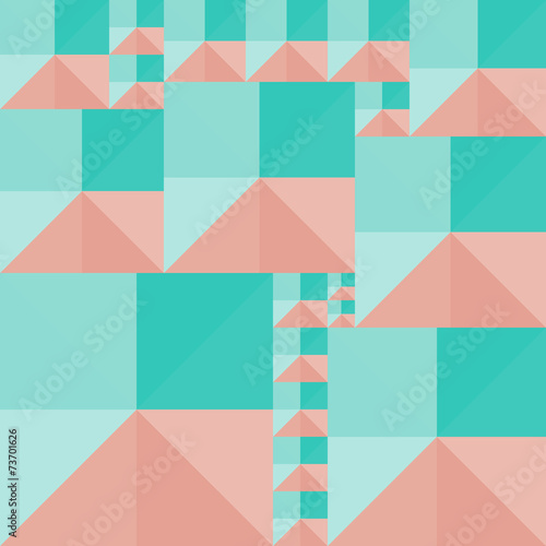 geometric background of colored squares and triangles © pp_scout