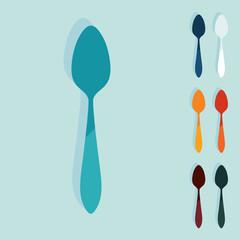 Flat design: spoon