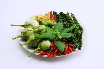 ingredian for Thai spicy fried curry 3