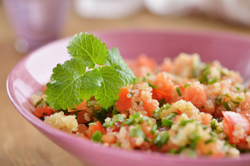 Tabbouleh with quinoa and vegetables