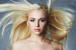 beautiful young woman with long hair.Blond girl.Beauty salon