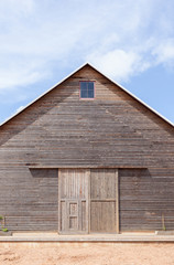 A wooden barn /Country barn and blue sky in sunny day
