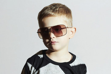 child in sunglasses.sad Little boy.Kids fashion