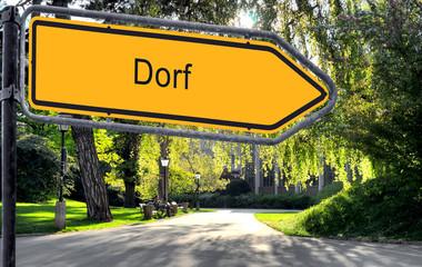 Strassenschild 25 - Dorf