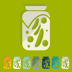 Flat design: pickled vegetables