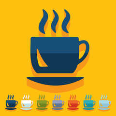 Flat design: coffee