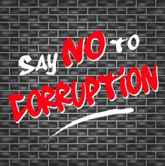 no corruption graffiti