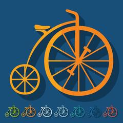 Flat design: bicycle