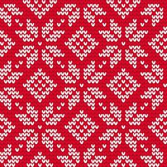 Christmas knitted seamless pattern