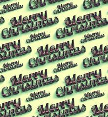 Merry Christmas  words. Seamless