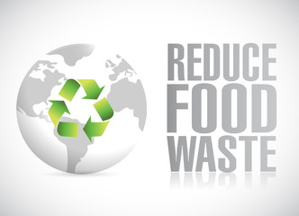 reduce food waste illustration design