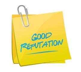 good reputation memo post illustration