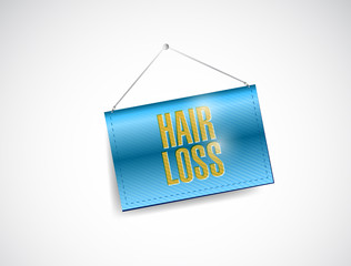 hair loss banner illustration design