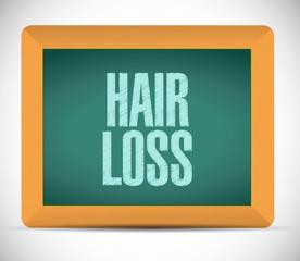hair loss sign illustration design