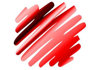 Zigzag-Streifen Punkt - rot