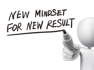 new mindset for new results written by 3d man