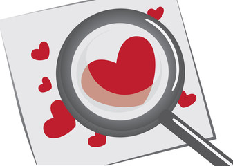 Searching for Love with Magnifying Glass