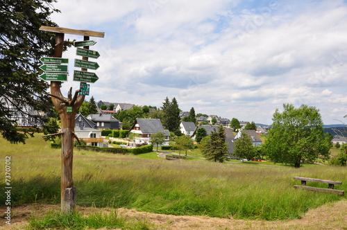 Leinwandbild Motiv Masserberg im Thüringer Wald