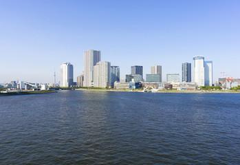 晴海大橋より 再開発が進む湾岸エリアを望む