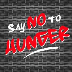 no hunger graffiti
