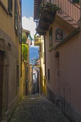 Narrow street in a small Italian town