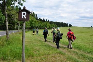 Rennsteigwanderung im Thüringer Wald