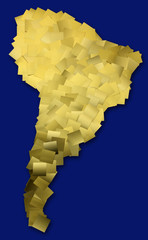 Map of South America  / with clipping path