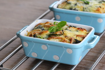Cheese and spinach bake