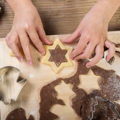 Christmas baking, prepare  child the cake