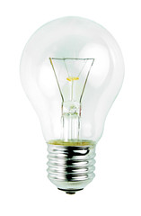 Light bulb isolated on white background.