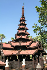 Bagaya Kyaung monastery, built of teak in 1838, ancient city Inw