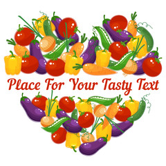 Vegetable heart  for healthy lifestyle