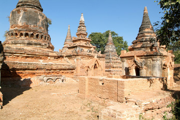 The ruins of the Bagaya Monastery in the ancient city of Innwa (