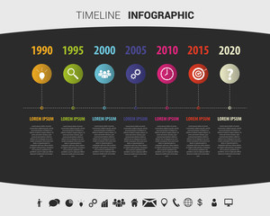 Timeline infographic design template. Vector