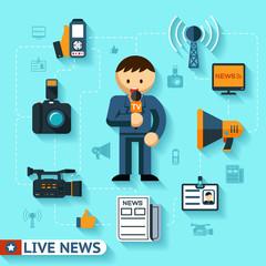 news and mass media