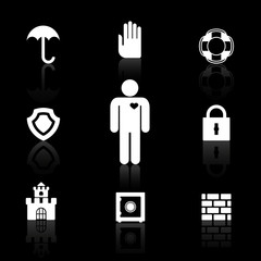 Safety and insurance symbols