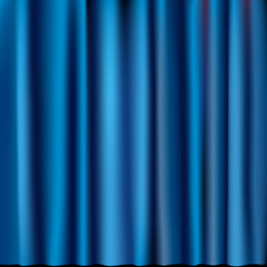 blue curtain
