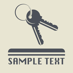 Keys icon or sign