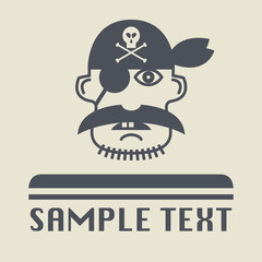 Pirate icon or sign