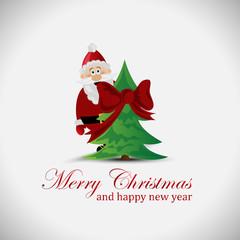 Santa Claus Background - Vector Illustration