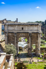 Rome, Italy. Ruins of ancient constructions.
