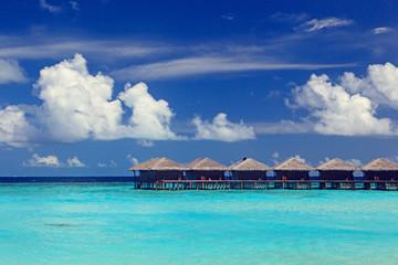 water villas in sea resort