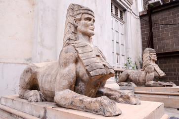 Sphinx of the Old Masonry Temple in Tenerife